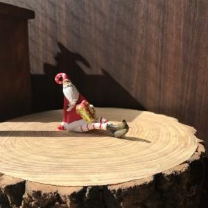 Knit Leg Santa Box